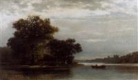 sommerliche flussuferpartie by julius wentscher