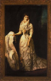 portrait of a lady in an elegant lace gown by george da maduro peixotto