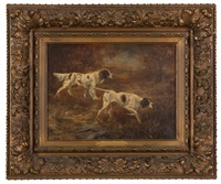 on the scent, english pointer and english setter by c. l. van vredenburgh