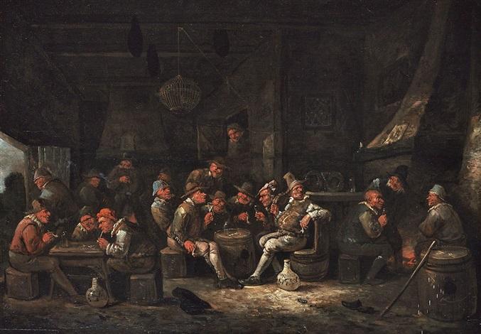 wirtshausinterieur mit zahlreichen zechern by egbert van heemskerck the younger