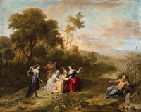 euridice and her companions by gaspar de witte