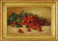 still life of strawberries by emma levina swan