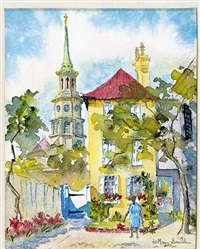 st. philip's steeple, charleston, s.c. by edith demay smith