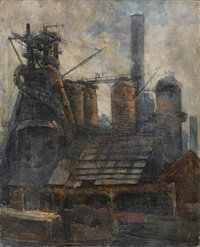 hochofen in reparatur by carl adolf korthaus