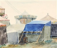 jahrmarkt (from sketchbk) by leo von könig