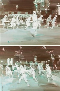 a dance (diptych) by xiao bo