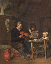 as the old sang, so the young pipe by gabriel metsu