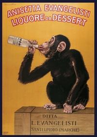 di anisetta evangelisti/ liquore da dessert (poster) by carlo biscaretti di ruffia