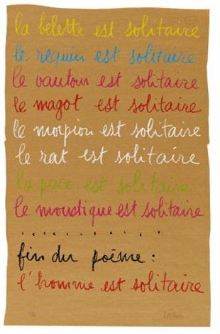 la belette est solitaire by robert filliou