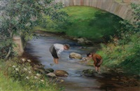 boys fishing by m. dempster