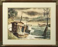 shrimp boats by rolland harve golden