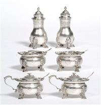 condiment set (6 pieces) by adie brothers (co.)