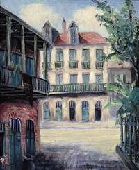 pirate's alley looking towards royal street, french quarter by nestor fruge