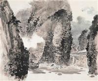 山林人家 (familly at forest) by liang shunian