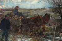 harvest scene by lauritz martin mikkelsen