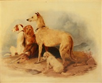 dogs waiting by sir edwin henry landseer