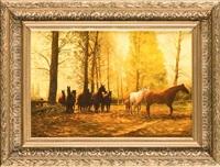 pferde auf der koppel by kasjan farbisz