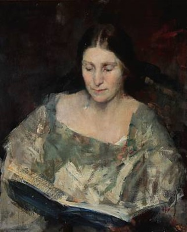 portrait of a woman inger magnussen by herman albert gude vedel