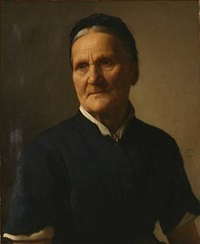 portrait of an elderly woman by frederik (johan frederik nikolai) vermehren