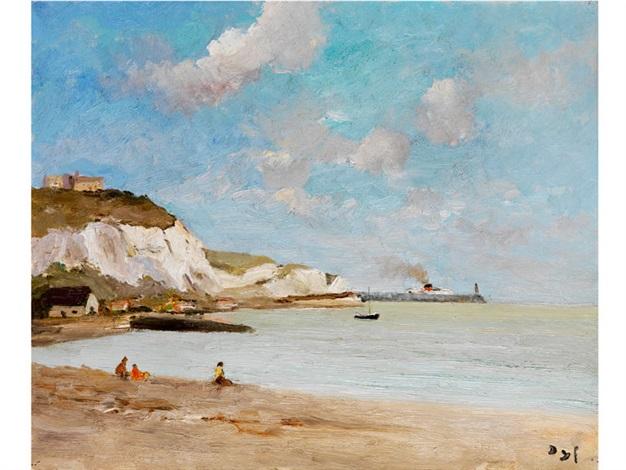 falaises sur la marche steilküste an der marsch by marcel dyf