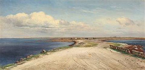 summer idyll at saltholm with grazing cows denmark by carl frederik peder aagaard
