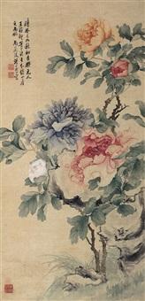 五色牡丹 (peony) by tang shishu
