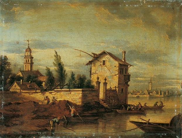 venezianisches capriccio dörfer an der brenta by heinrich hirzel
