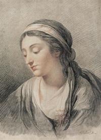 porträt einer jungen frau by jérémie arlaud