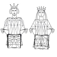 king and queen chair (2 works) by john risley