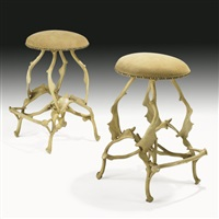bar stools (pair) by arthur court