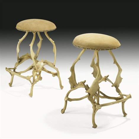 bar stools pair by arthur court
