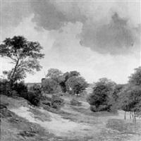 die windmühle hinter den bäumen by friedrich karl joseph simmler