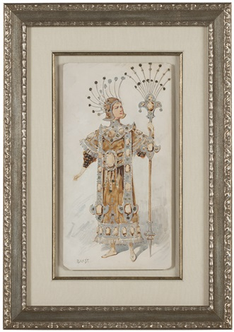 a stage costume design by leon bakst