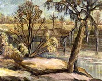 ouachita river at monroe by amos lee armstrong