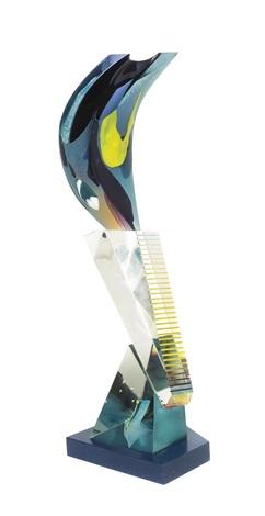 a glass sculpture robert dane american b 1953