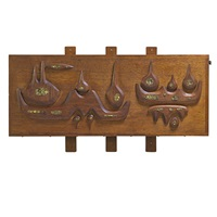 wall-hanging drop-front desk by john risley