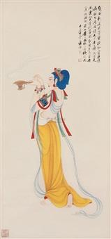 天香仕女 (fantasy lady) by qi yongcheng