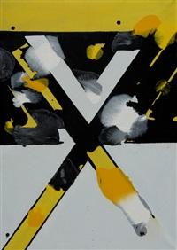 komposition in gelb und schwarz by franz fedier