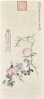 peony and peach by empress dowager cixi