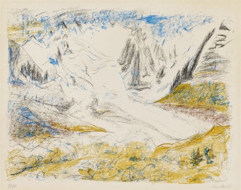 gletscher by erich heckel