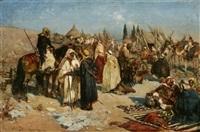 scène de marché oriental by heinrich maria staackmann