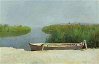 barca ormeggiata by francesco lipizer