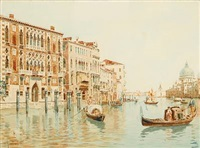 view from canal grande in venice by angelos giallina