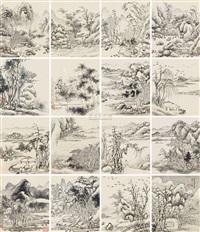 landscape (album w/16 works) by li rihua