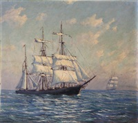 two clipper ships abeam by john nichols haapanen