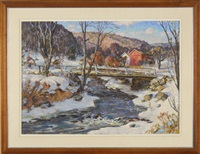 new england winter landscape by frederick lester sexton