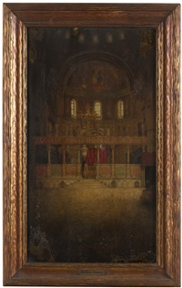 cathedral interior by mortimer luddington menpes