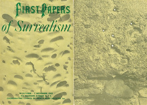 cover for first papers of surrealism by marcel duchamp on artnet