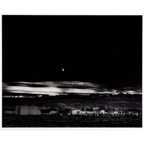 moonrise hernandez new mexico by ansel adams