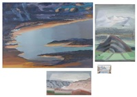 landscape (+ 3 others, irgr; 4 works) by martyl schweig langsdorf